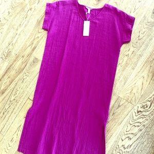 Eileen Fisher organic cotton gauze dress
